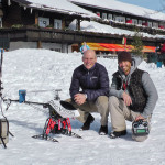 Hotel Chef Christian Neusch und Marc Vogel mit Fotohelikopter