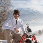 Marc Vogel mit Fotohelikopter