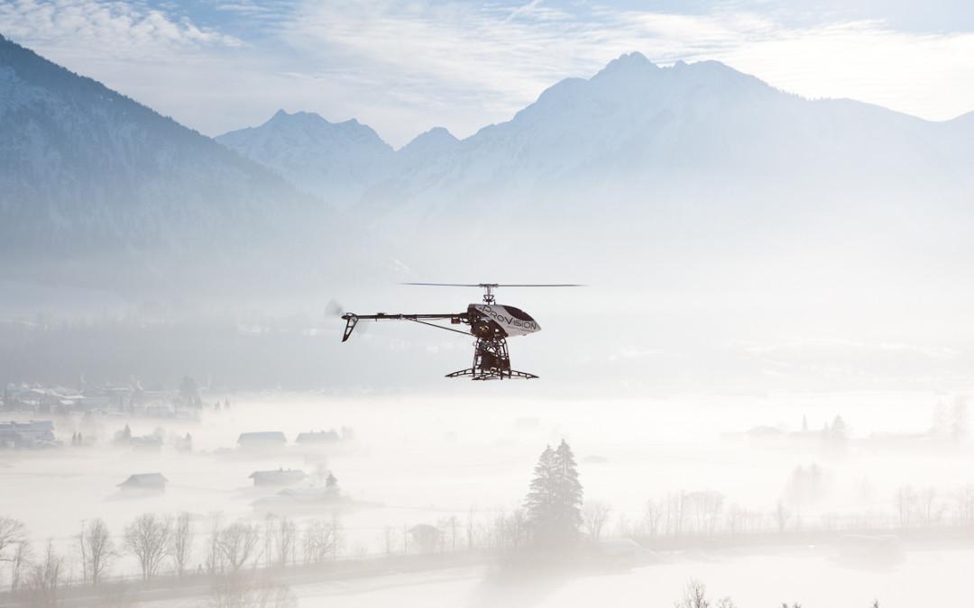 Luftbilder Allgäuer Berghof im Winter