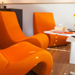 Café Doppio - Lounge Sitzguppe in Orange