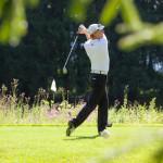 Dieter Thoma beim Golfspiel - Abschlag