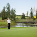 Portrait von Dieter Thoma auf dem Golfplatz der Sonnenalp in Ofterschwang