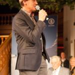 Markus Wasmeier moderiert Modenschau Willy Bogner auf der Sonnenalp in Ofterschwang