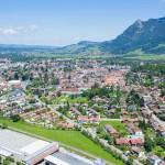 Luftaufnahme Stadt Sonthofen mit Grünten