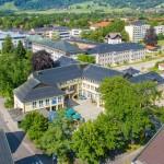 Luftaufnahme vom Rathaus Sonthofen