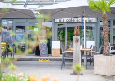 Detailaufnahme Cafe Schreier Aussenansicht