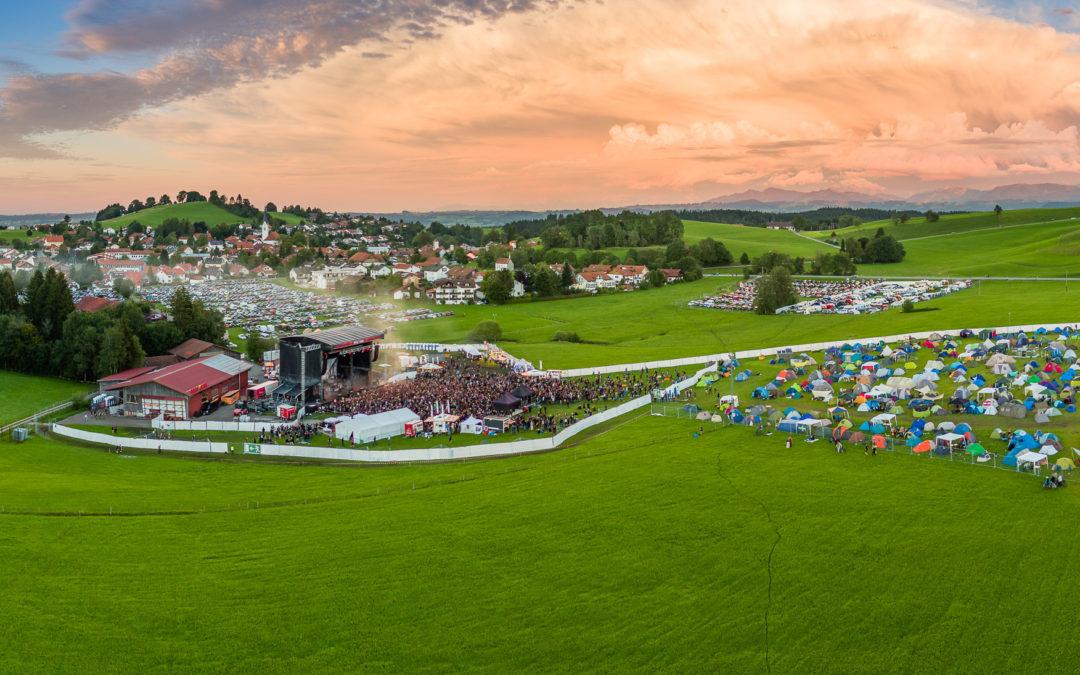 Luftaufnahmen für Allgäu Concerts – Fantastischen4 und Rock The King