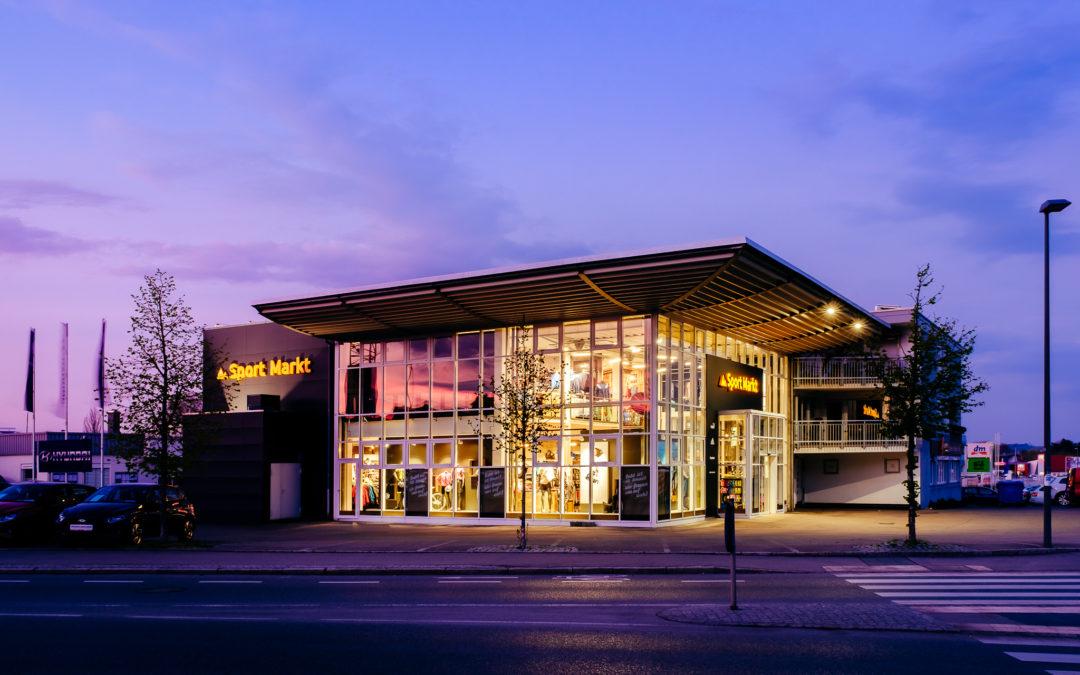 Exterior Fotografie Sportmarkt Friedrichshafen